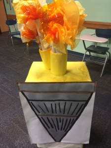 My group torch with small torches on top! Isn't it cute? :)